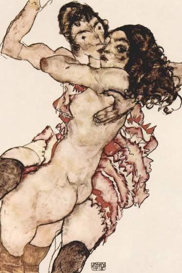 Egon Schiele Dwie kobiety 1