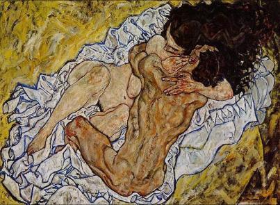 Egon Schiele - Uścisk