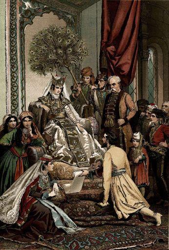 ilustracja do dzieła Szoty Rustawelego (z: wikipedia)