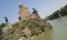 król Wachtang, kościół Metechi i rzeka Kura