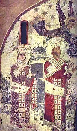 Vardzia_Chapel_fresco