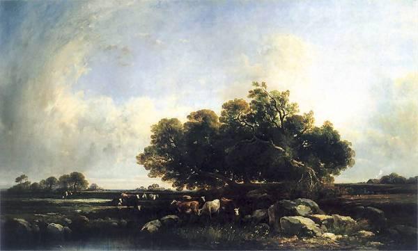 Pejzaż z krowami