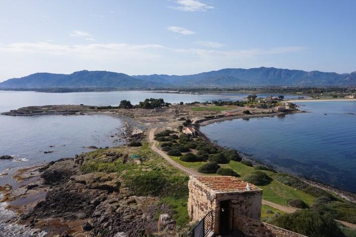 widok na Norę z tarasu wieży