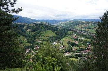 widok na miasto z Magury