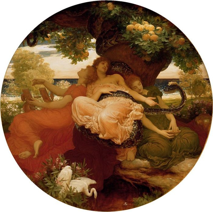 "Frederic Leighton - ""The Garden of the Hsperides"""